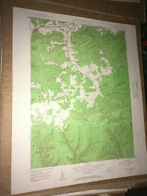 Marshlands PA Tioga Co. Old USGS Topographical Geological Survey Quadrangle Map