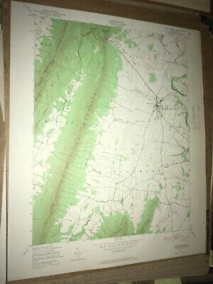 Mercersburg PA Franklin Co USGS Topographical Geological Survey Quadrangle Map