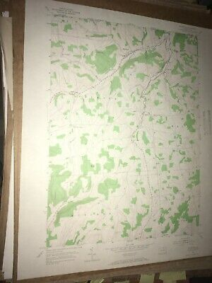 Millerton PA Tioga Co Old USGS Topographical Geological Survey Quadrangle Map