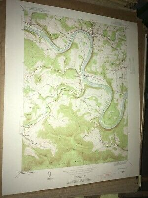 Meshoppen PA Wyoming County USGS Topographical Geological Survey Quadrangle Map