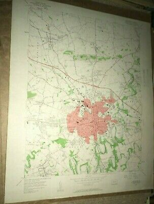 Lancaster PA County Old USGS Topographical Geological Survey Quadrangle Map