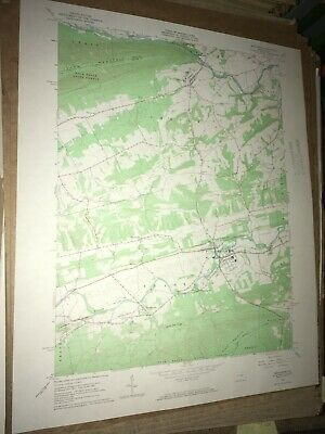 Middleburg PA Snyder Co Old USGS Topographical Geological Survey Quadrangle Map