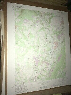 Meyersdale PA Somerset Co USGS Topographical Geological Survey Quadrangle Map