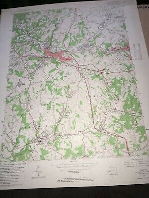Irwin PA Westmoreland Co. USGS Topographical Geological Quadrangle Topo Map