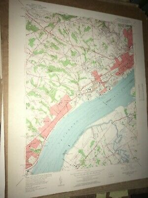 Marcus Hook PA NJ Delaware USGS Topographical Geological Survey Quadrangle Map
