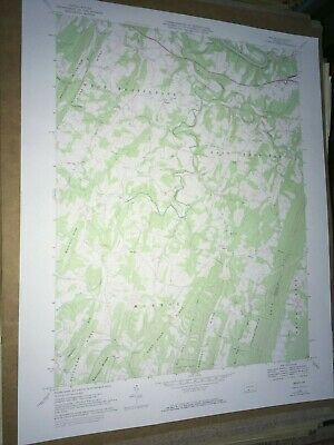 Mench Pa. Bedford Co USGS Topographical Geological Survey Quadrangle Map