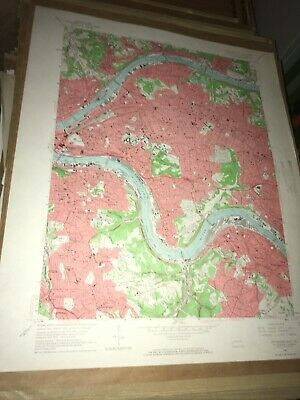 Pittsburgh East PA Allegheny USGS Topographical Geological Quadrangle Topo Map