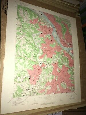 Pittsburgh West PA Allegheny USGS Topographical Geological Quadrangle Topo Map