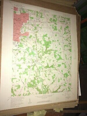 Sharon East Pa.Mercer County USGS Topographical Geological Survey Quadrangle Map