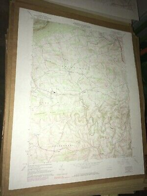 Slatedale PA Lehigh County USGS Topographical Geological Survey Quadrangle Map