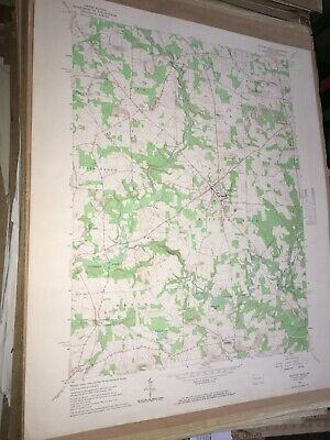 Slippery Rock PA Butler County USGS Topographical Geological Quadrangle Topo Map