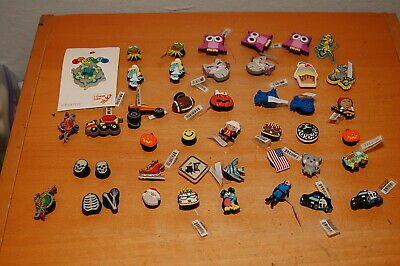 Lot of 44 JIBBITZ Shoe Charm, Authentic Genuine Licensed Assorted Charms