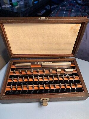 VINTAGE JAPAN MITUTOYO GAGE BLOCK Boxed SET No. 516-914  Grade A+ 37 PCs CLEAN
