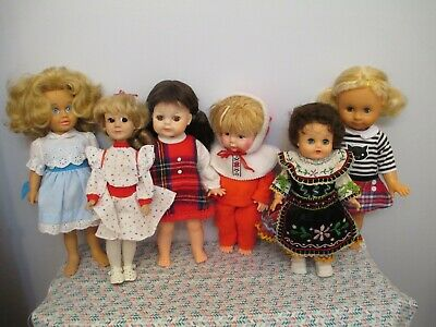 Nice Lot of Mostly Vintage All Vinyl and Vinyl & Plastic Dressed Dolls