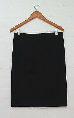TRENERY Label Women Basic Straight Pencil Office Casual Cotton Skirt Size 10