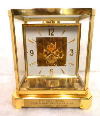 Vintage 1964 Square Dial Atmos Clock by Jaeger Le Coultre-- # 182529
