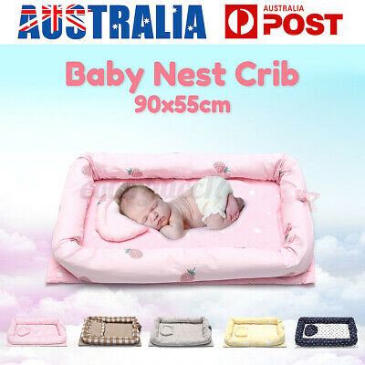 AU Newborn Baby Nest Bed Comfortable Crib Soft Bedding Matress Travel Portable