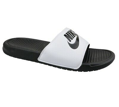 Nike Benassi JDI White Black Oreo 343880 100 Mens Slides Sandals Size 7