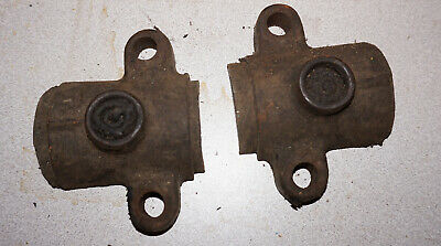 Antique vintage Sattley 1 1/2 hp main bearings caps hit and miss engine