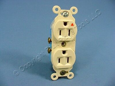 Eagle Electric Ivory Plastic Ears ISOLATED Ground Outlet Receptacle 15A IG5262V