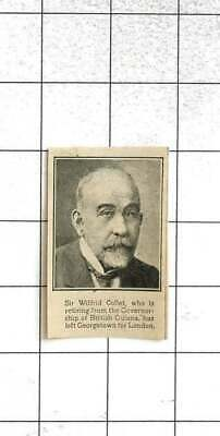 1922 Sir Wilfrid Collett Retiring From Governorship Of British Guiana