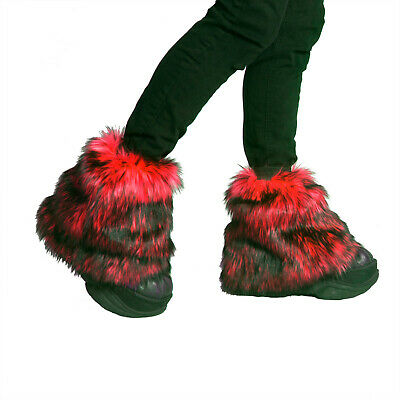 PAWSTAR Pony Puff Leg Warmer furry rave dance fluffies music red wolf [WFRD]2594