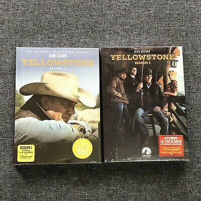 Yellowstone Season 1-2 The Complete Series One Two DVD New Sealed Region 1