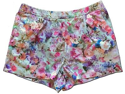 FOREVER NEW Size 8 Women's Floral Dress SHORTS Roses Lilies