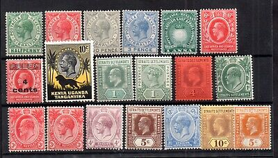 British Commonwealth QV-KGV unchecked mint collection WS17230