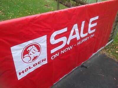Holden Dealership Lion Logo Material Banner Commodore 2007 Ve Launch Vgc Mancave