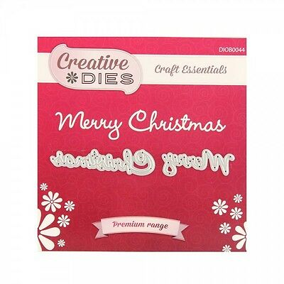Creative Dies - Merry Christmas Die - Compatible with Cuttlebug & Sizzix