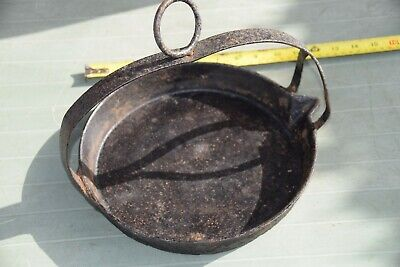 "11"" Vintage Solid Cast Iron Swing Skillet Romany Gypsy Frying Pan,"
