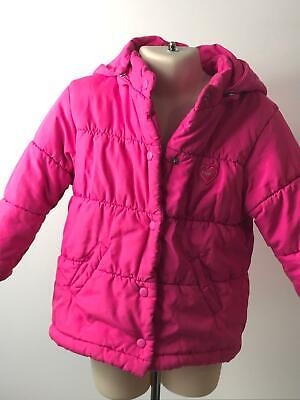 Girls Next Pink Detachable Hood Warm Coat Jacket Kids Age 3 Yrs