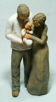 New Boxed Willow Tree Figurine Couple & Baby We are Three Thames Hospice B