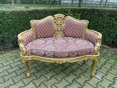 Beautiful sofa in French Louis XVI style. Unique form
