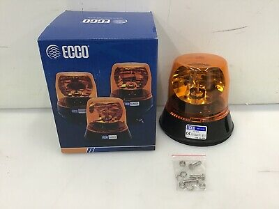 North American Signal 112HR-24A Halogen Rotating Beacon Amber North American Signal Company Permanent Mount