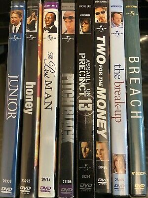 Lot Of 8 Assorted **Mix Genre** DVD Universal Studio Movies Good Condition