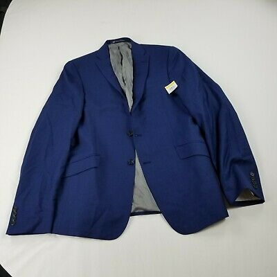 Hart Schaffner Marx Blue Suit Jacket  Worsted Wool Alex Scoggins 44 L career