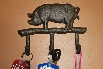 Cast Iron Pig Wall Hooks, 7 inch, H-120