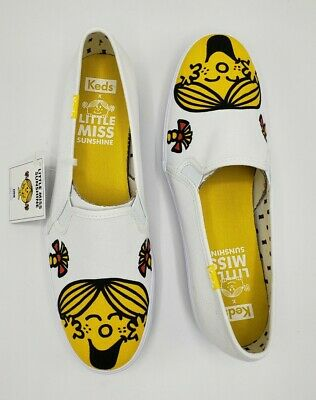 Keds Little Miss Sunshine Slip On Sneakers Shoes White Women's Size 7.5