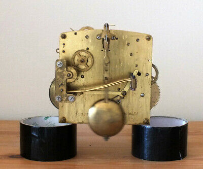 Working Perivale Clock Movement With Hands Pendulum And Key....