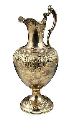 Large Charters Cann & Dunn New York Coin Silver Jug / Pitcher