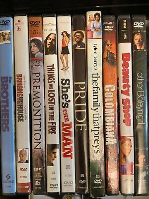 Lot Of 10 Assorted **Mix Genre** DVD Movies Good Condition