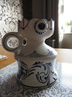 Blue and White Pottery looks Like Oil Lamp Base