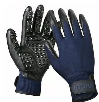 LOOTUS Pet Grooming Glove Mitt for Dogs Cats and Horses with Long and Short....