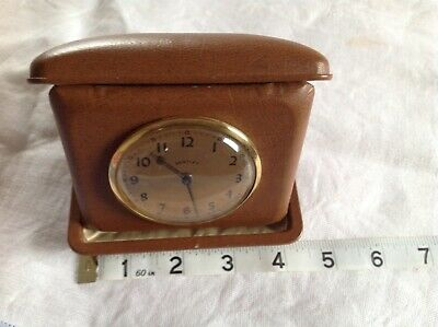 Antique Bentley Travel Clock made by Lux Clock MFG Co of Waterbury Conn USA
