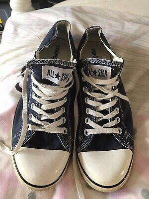 Mens converse all star size 10.5 Navy Blue Low Top Great Condition