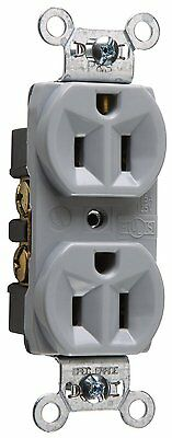 Legrand Pass & Seymour Gray15 Amp 125 volt Construction Grade Duplex Receptacle