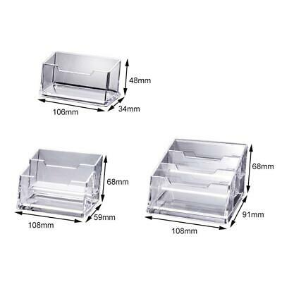 Acrylic Business Desktop Holder 1/2/3 Clear Countertop Office Pockets Stand Card