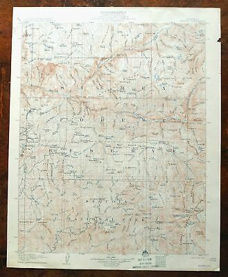 1905 Tehipite California Antique USGS Topographic Map Kings Canyon Sequoia NP